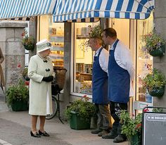 Queen in Ballater Butcher