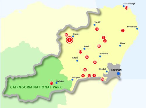 Deputy Lieutenants - location map